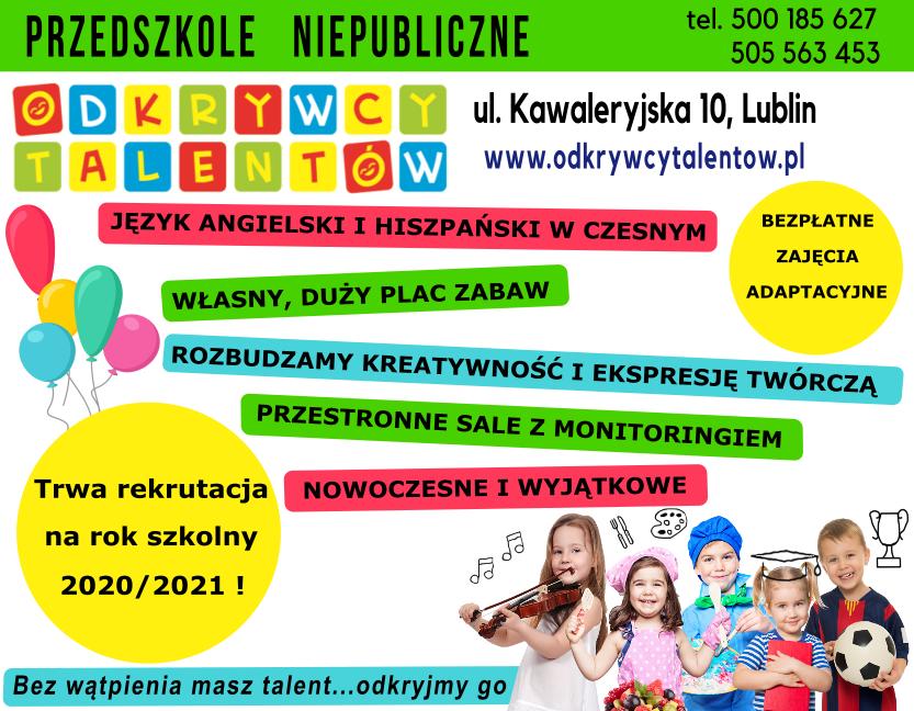 Rekrutacja narok szkolny 2020/2021 !